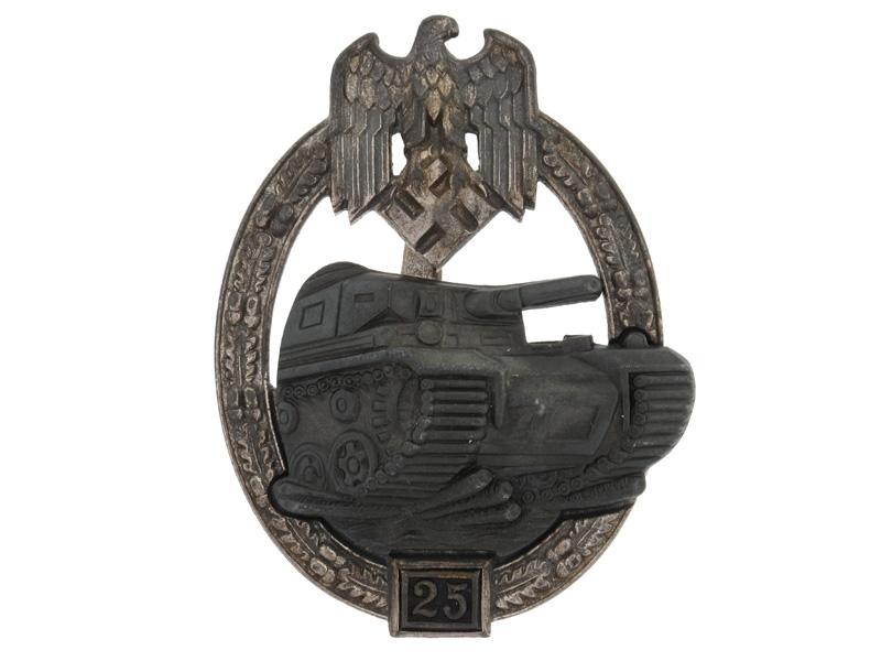 "Tank Badge Silver Grade ""25"""