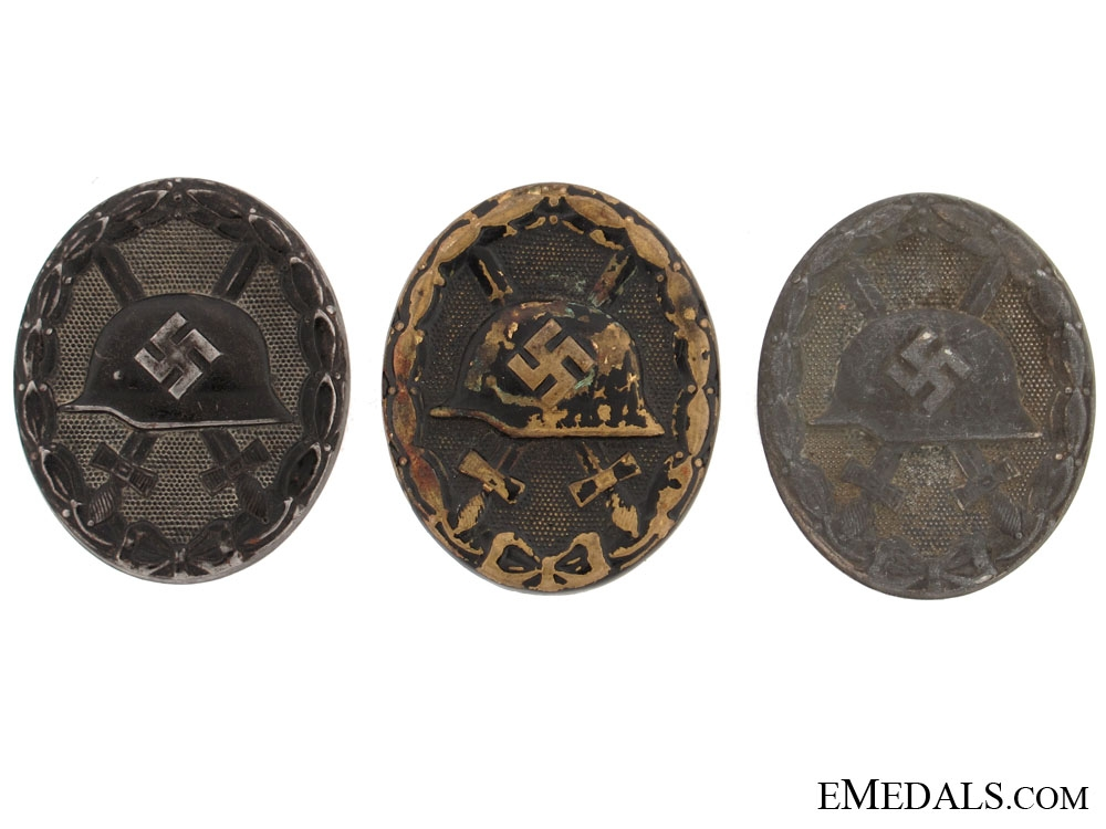 Three Wound Badges