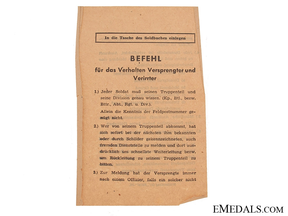 Soldbuch to KC Winner Felix Emanuel Adamowitsch
