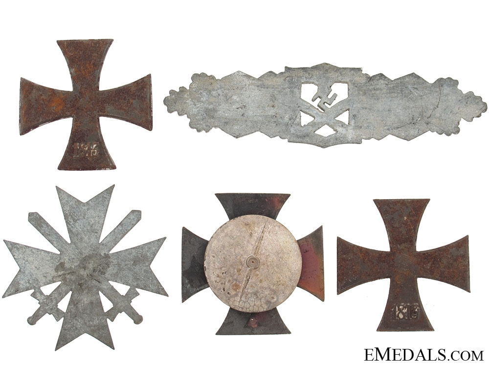 Medals & Combat Clasp Recovered From the Bombed Zimmerman Factory