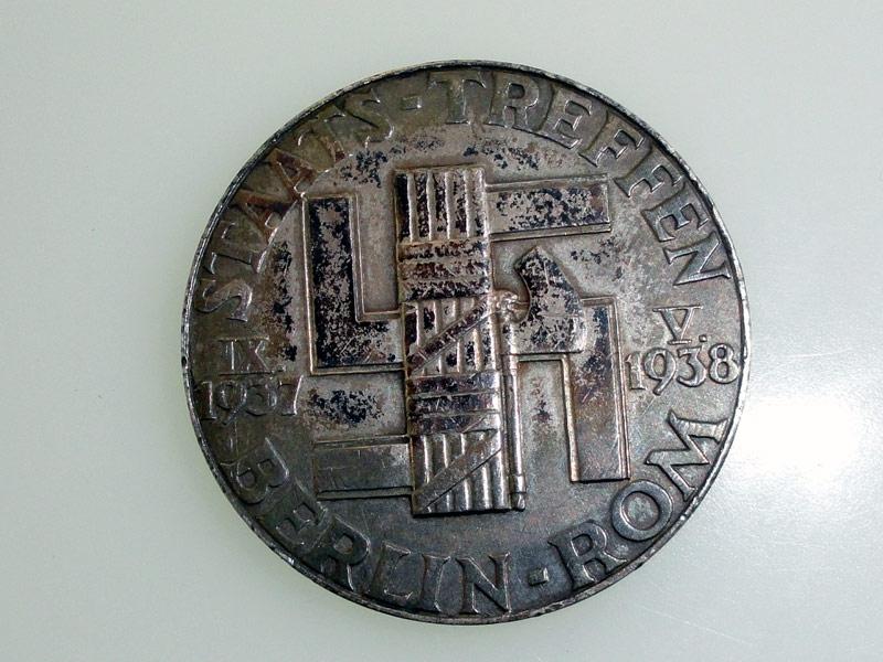 Mussolini-Hitler Silver Medal