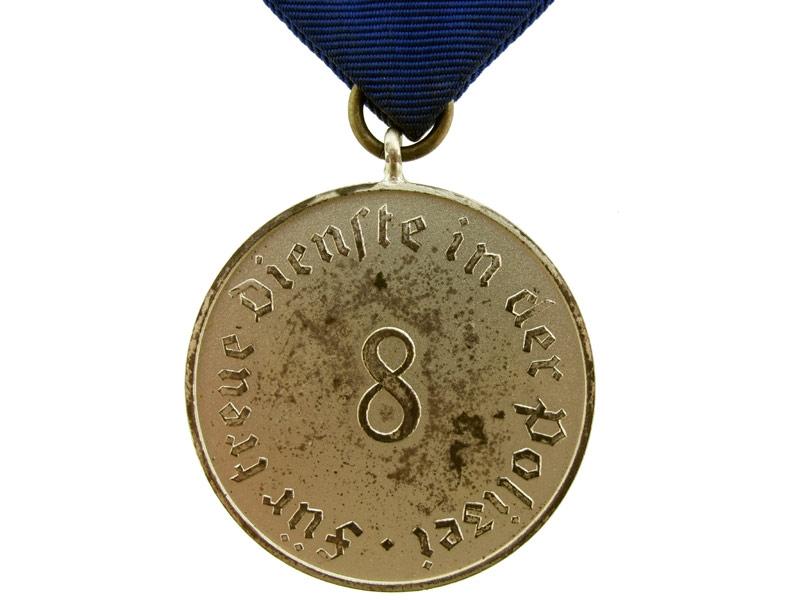 Police Long Service Award 8 Years