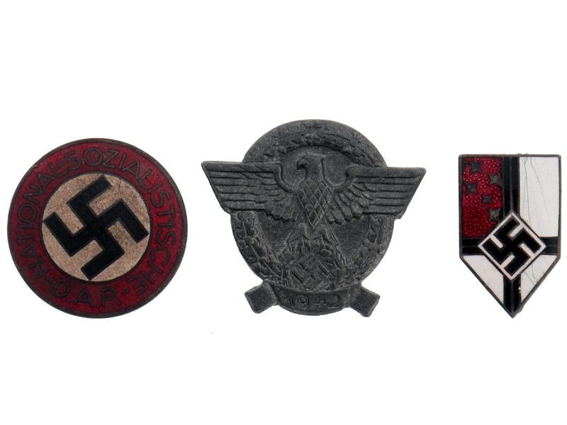 Lot of Three Badges