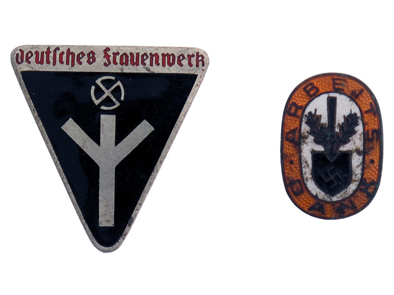 Two Enameled Badges