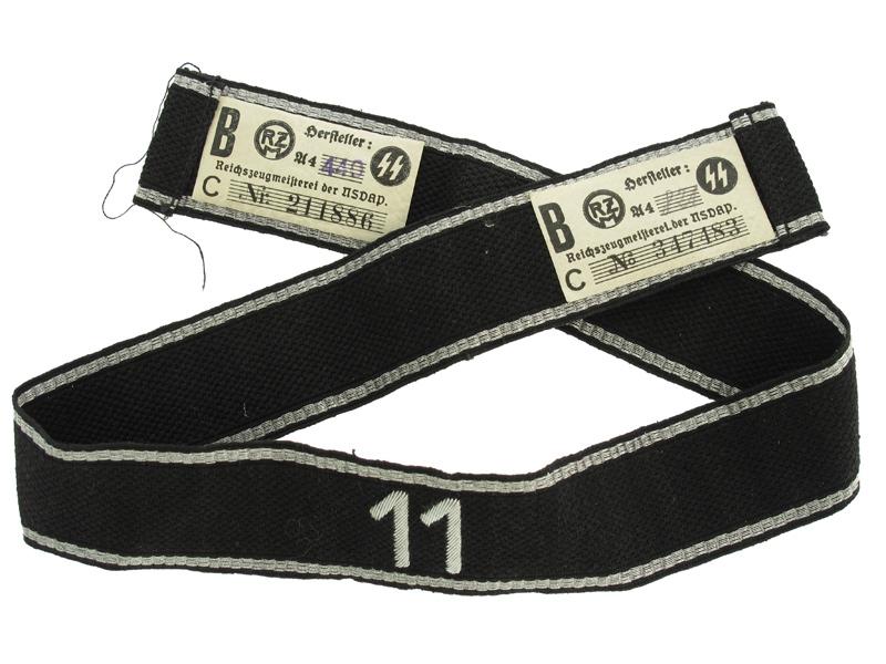 """Allgemeine-SS Cufftitle for Standarte """"11"""""""