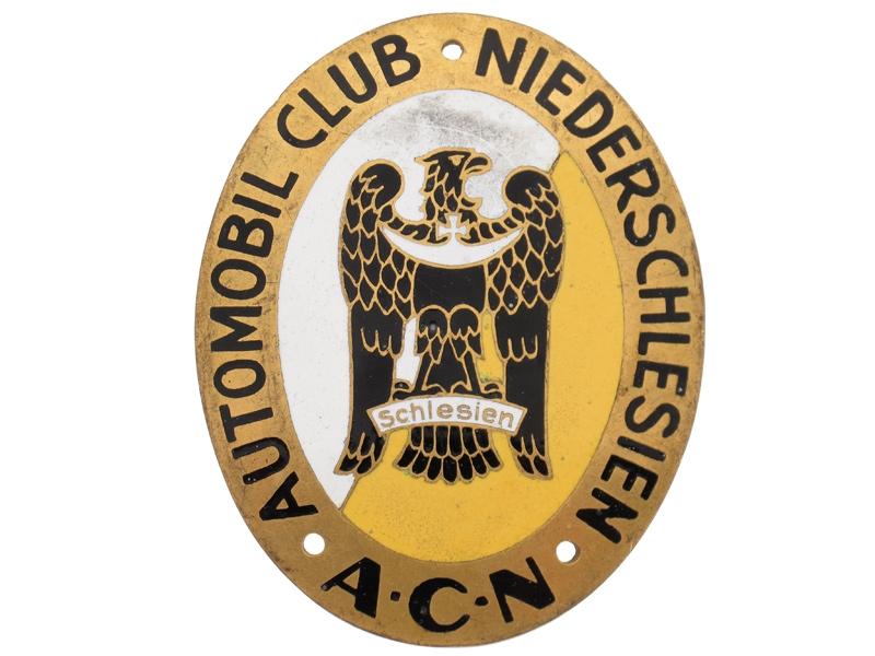 Schlesien Automobile Club Plaque