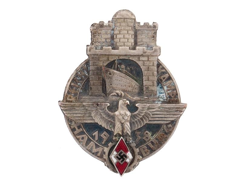 HJ Competition Badge Hamburg 1938