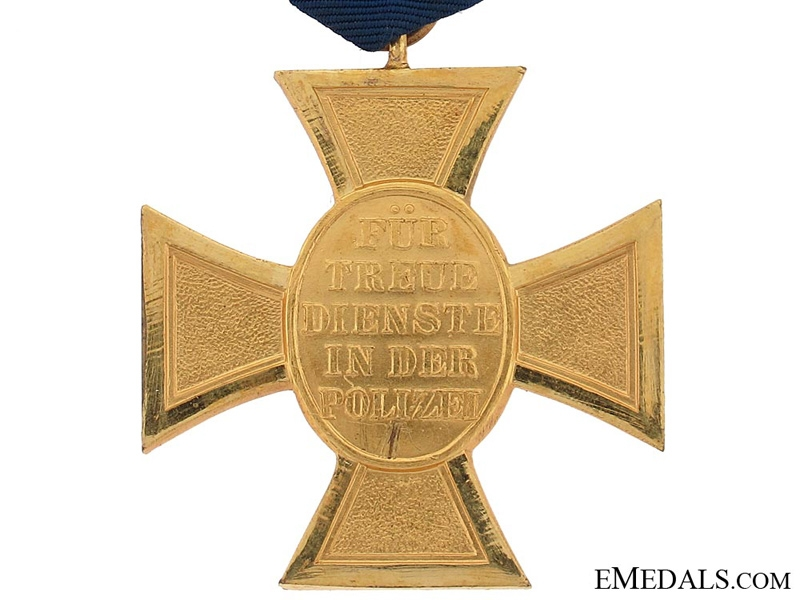 Police Long Service Cross First Class