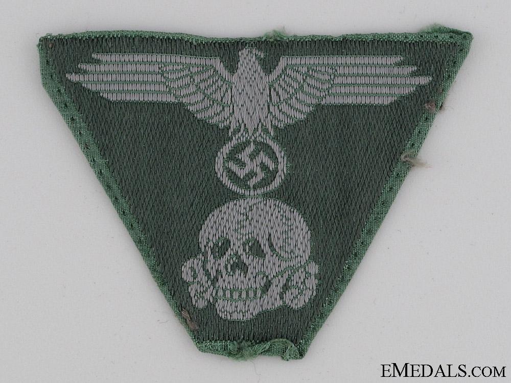 Green BeVo Waffen-SS Cap Insignia