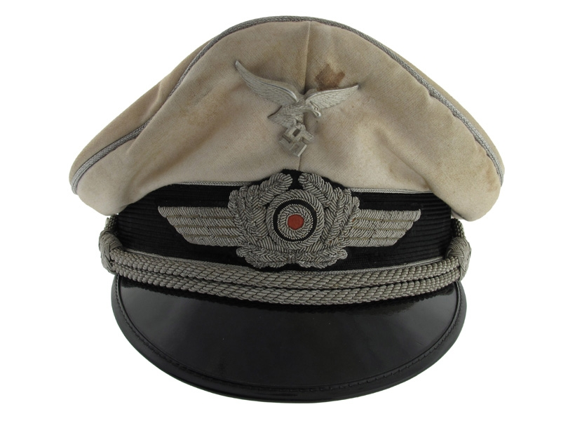Officer's Summer White Visor Cap