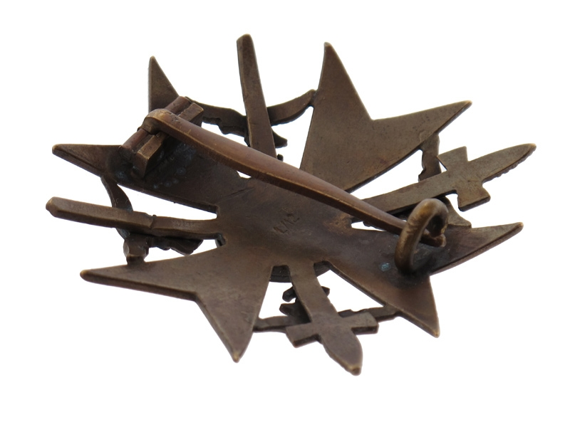 Spanish Cross in Bronze w/Swords
