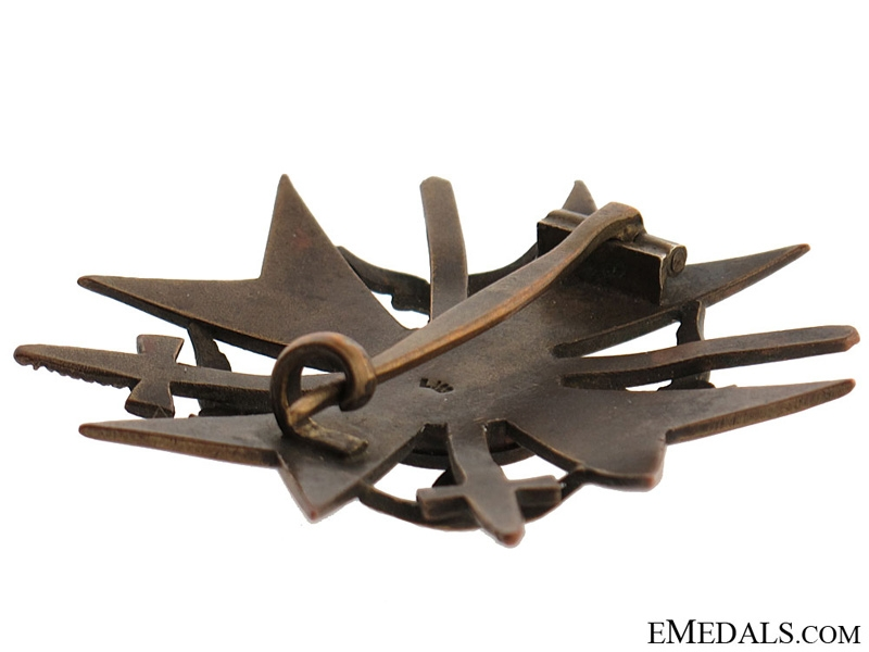 Spanish Cross in Bronze with Swords