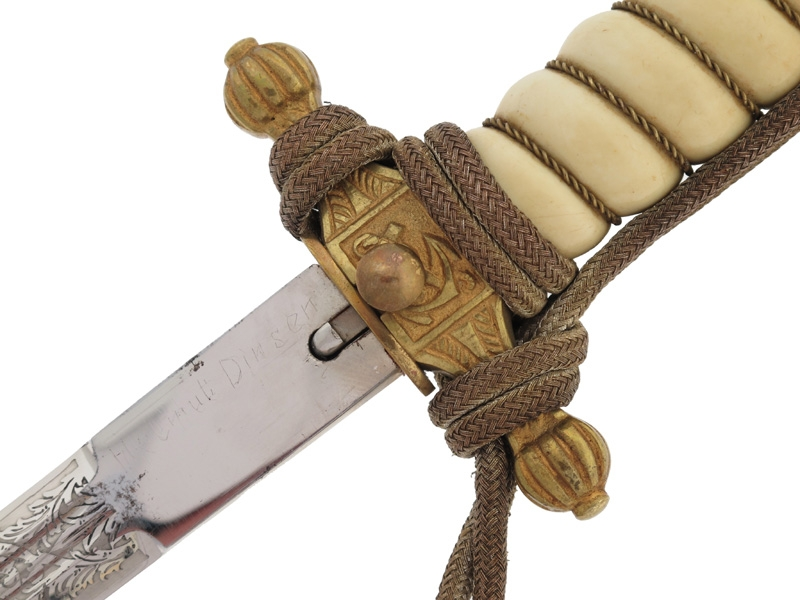Naval Dagger - Named to 'Helmut Dinsen'
