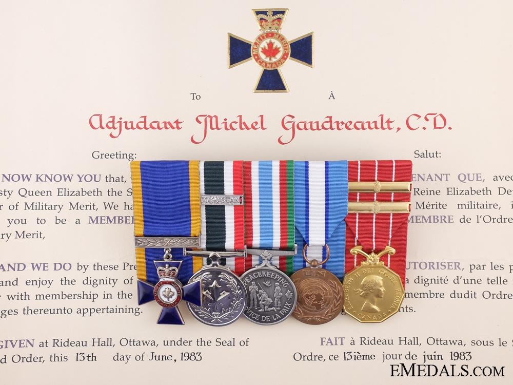 A Canadian Order of Military Merit Group to Adjutant Joseph Gaudreault,; Royal 22nd Regiment (Van Doos)