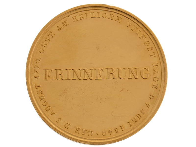 Gold Friedrich Wilhelm III (1770-1840) Medal
