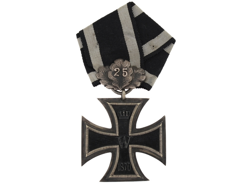 1870 Iron Cross- 2nd Class with Oak Leaves '25'