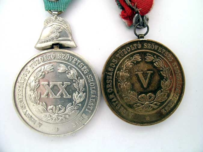 TWO FIREMAN'S MEDALS