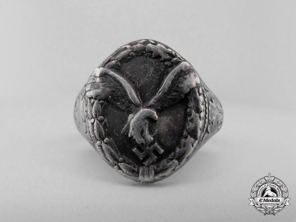 A Second War Silver Luftwaffe Pilot's Ring