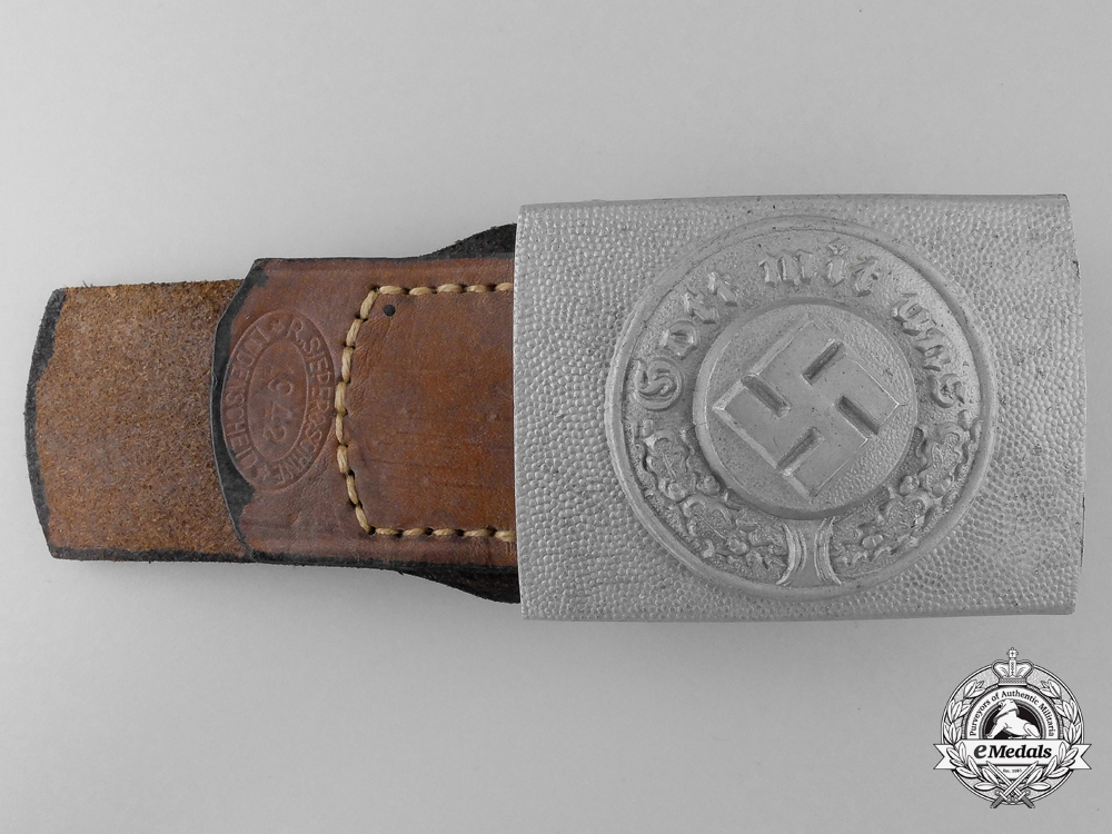 A Police Buckle and Tab by R. Sieper & Sohn; Published Example