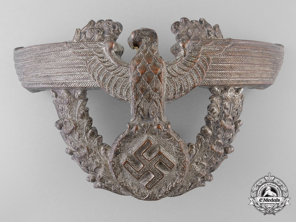 A German Police Officer's Shako Plate