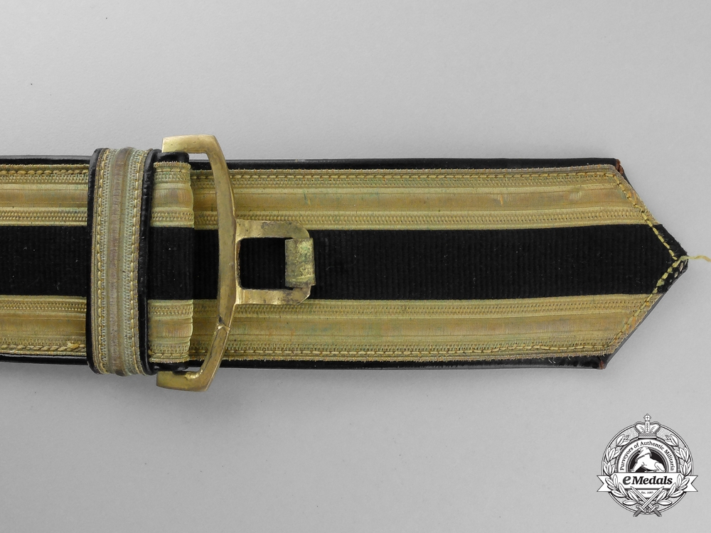 A Possibly Unique Italian Designed Brocade Dress Belt & Buckle; Published Example