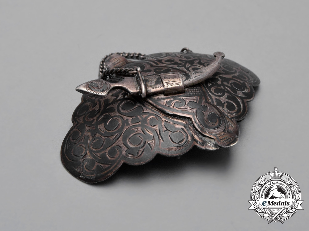 A Russian Imperial Silver Caucasus Belt Buckle 1908-26