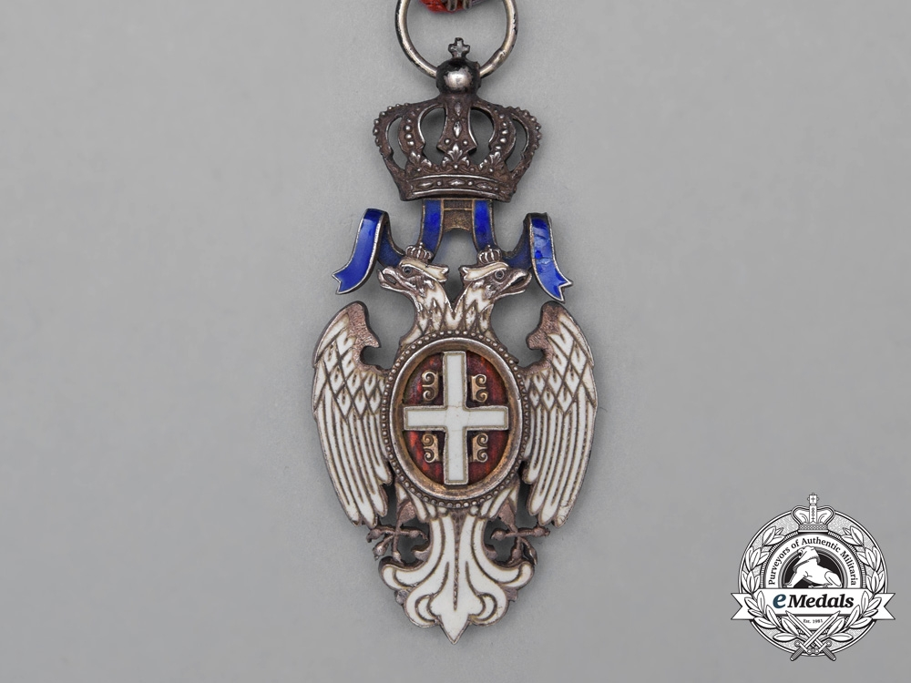 Serbia, Kingdom. An Order of the White Eagle, 5th Class Knight, c.1914