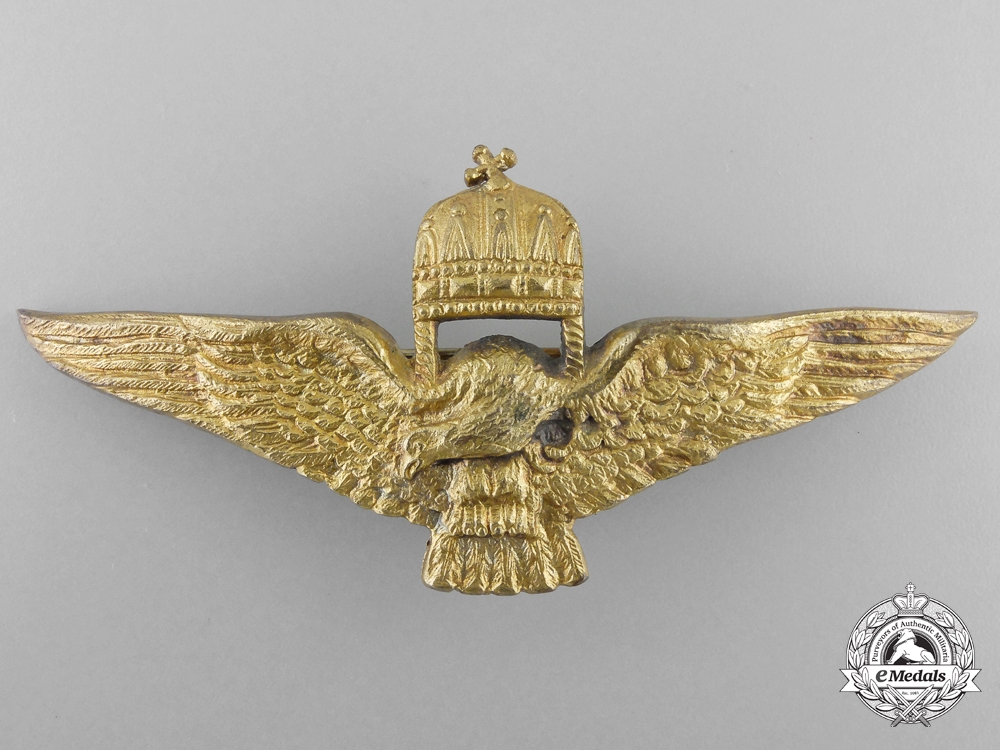 A Second War Hungarian Pilot's Badge with Document to Generalleutnant Joseph Schmid