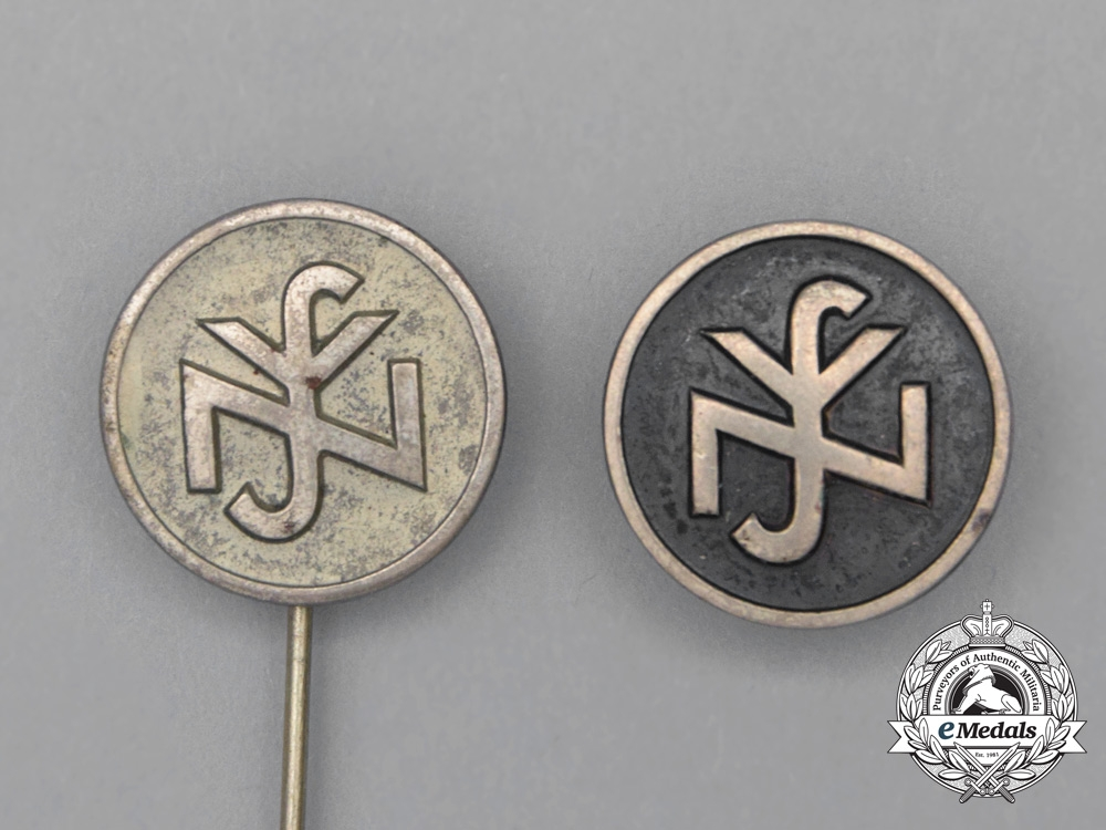 Two NSV (N.S People's Welfare) Badges and Stickpins