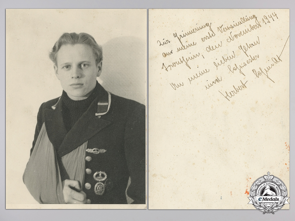 Germany. A U-Boat Grouping Soldbuch, Documents, and Photos to U-21