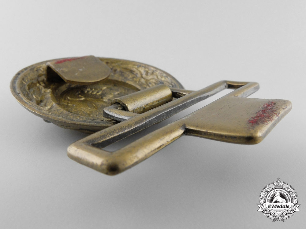 A Third Reich Period Hessen Fire Defence Officer's Belt Buckle
