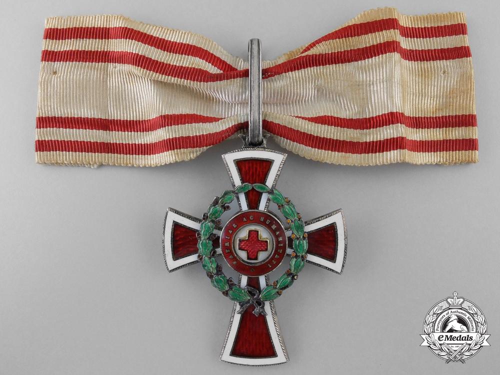 An Austrian Red Cross Decoration; First Class by G.A.Scheid