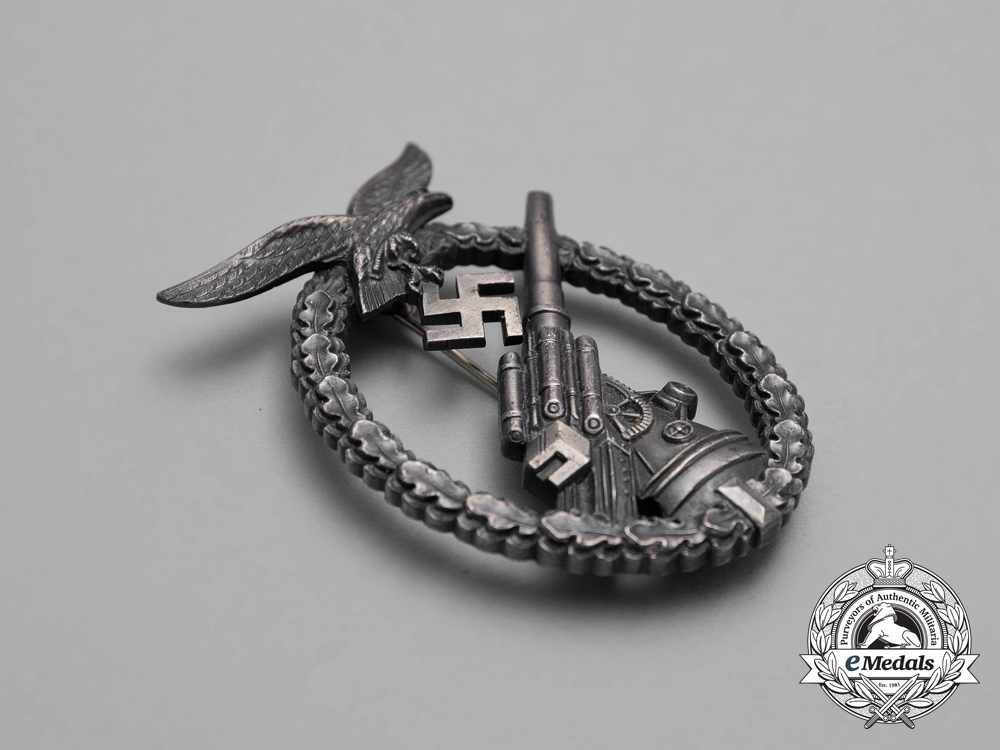 An Early Luftwaffe Flak Badge in its Case of Issue
