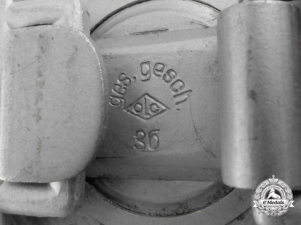 A German Police Officer's Belt Buckle by Overhoff & Cie, Ludenscheid