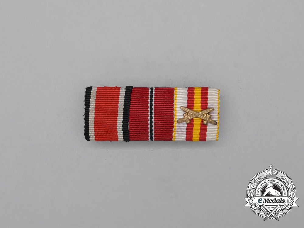 A Second War German Spanish Military Medal of Honour Medal Ribbon Bar