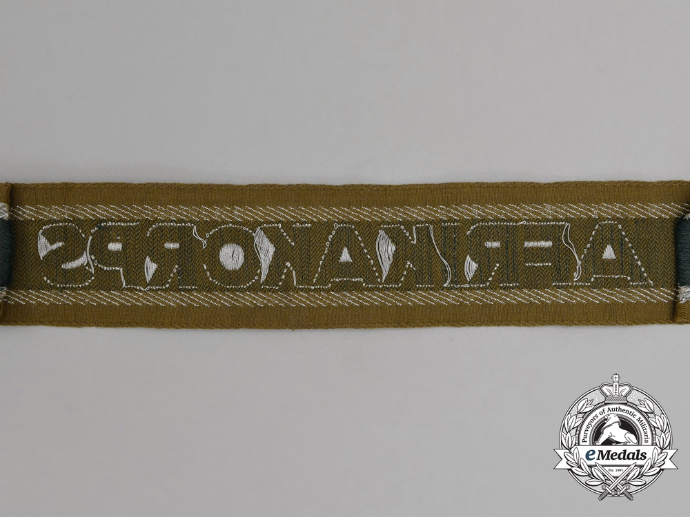 A Mint and Unissued DAK (German Africa Corps) Campaign Cuff Title