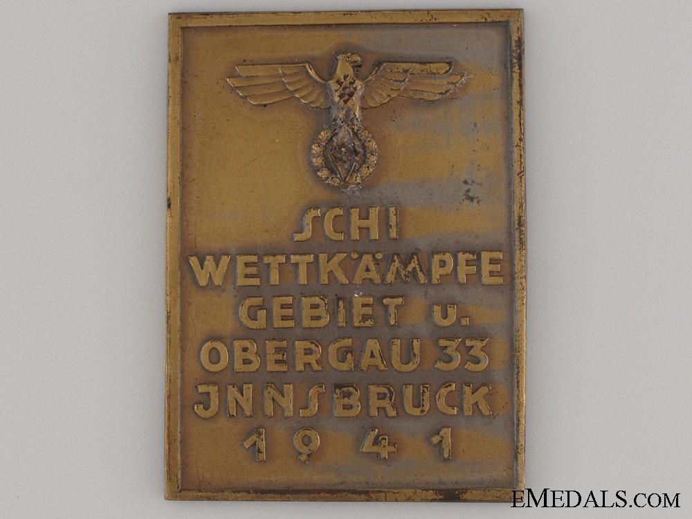 HJ Area Ski Competition Innsbruck 1941 Award