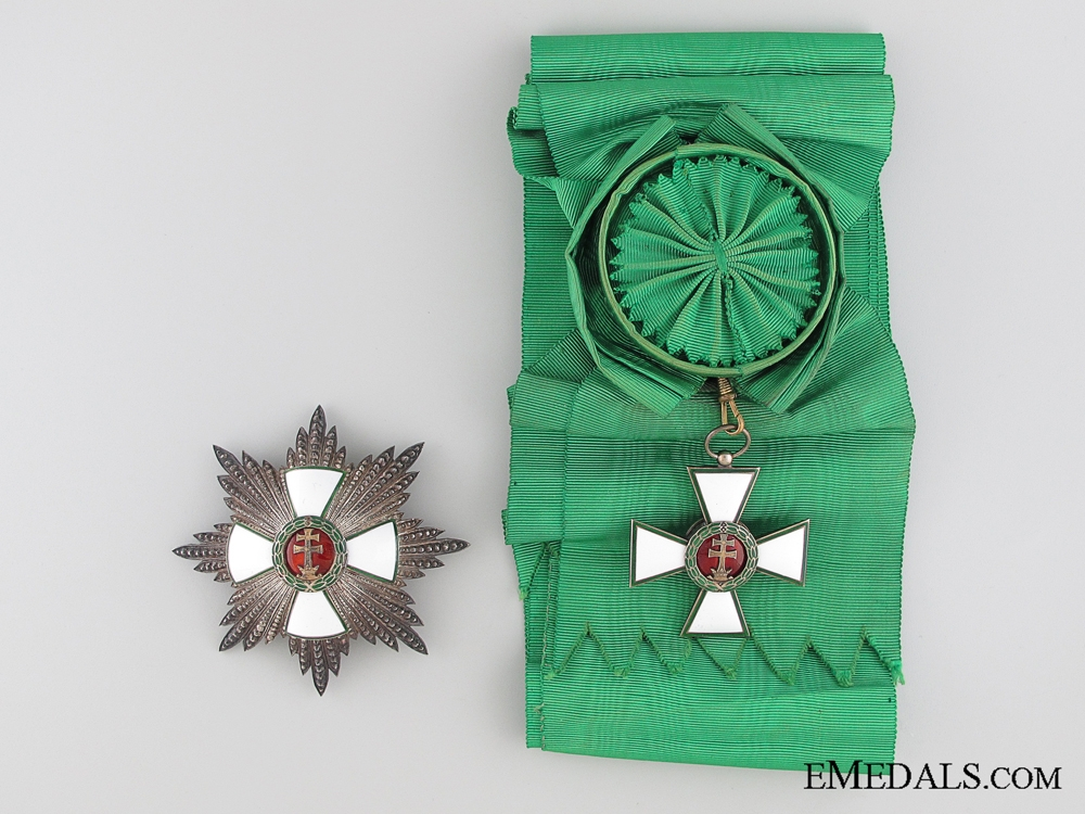 Hungarian Order of Merit 1930's Grand Cross Set