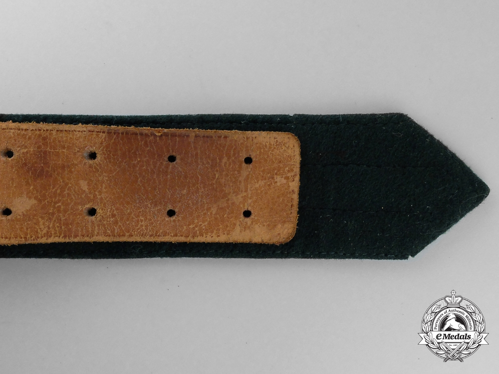 A Land Custom's Official's Brocade Belt and Buckle; Published Example