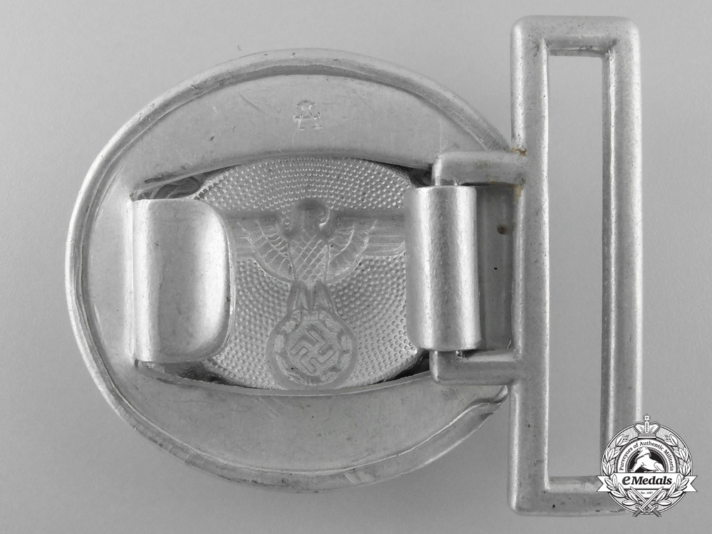 A German National Forestry Service Official's Belt Buckle by F.W. Assmann & Söhne