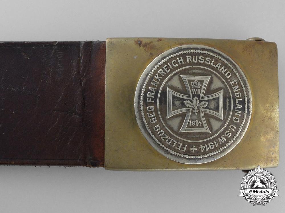 An Early First War German War Effort Belt with Buckle