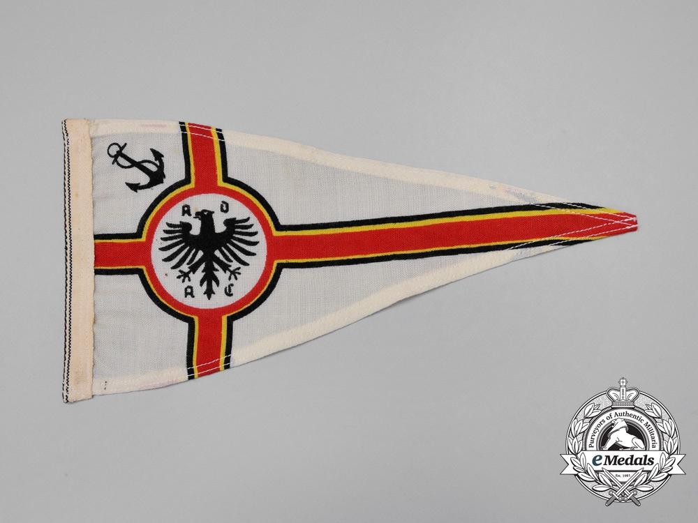 A German ADAC (General German Automobile Club) Boat Pennant