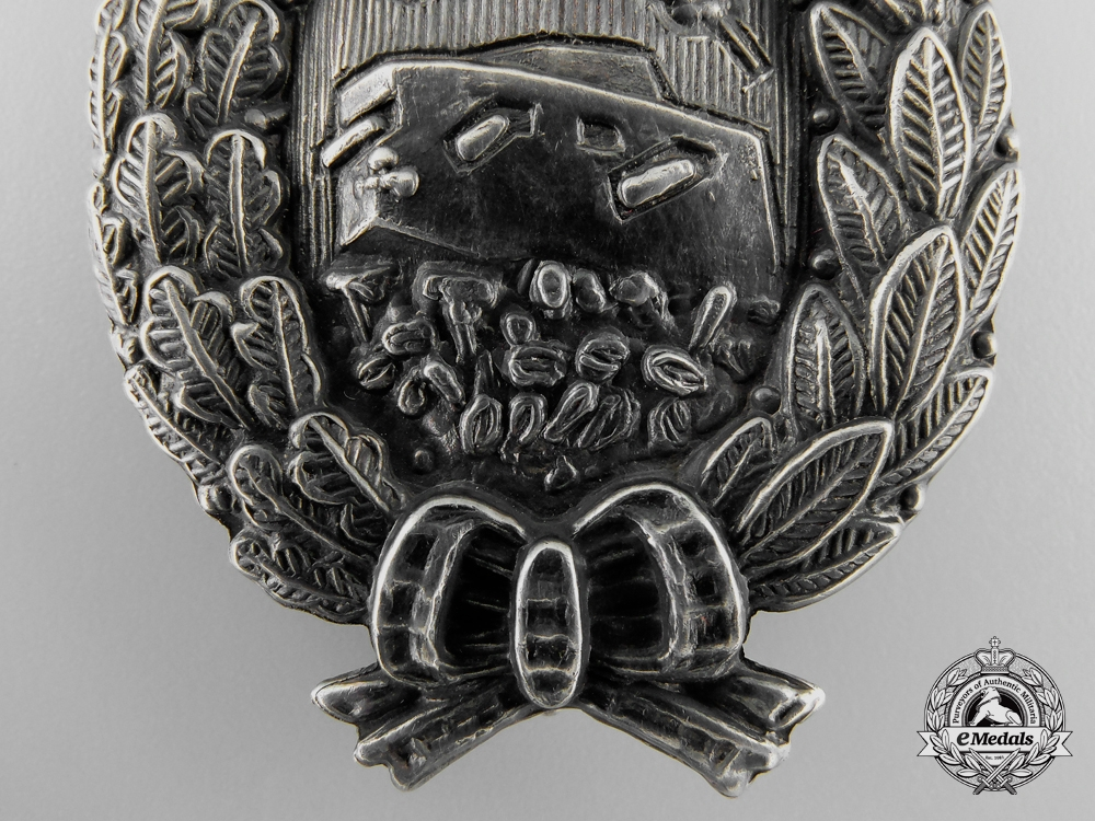 A Very Rare First War German Tank Crew Badge by Meybauer