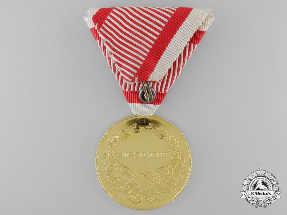 An Absolutely Mint First War Austrian Golden Bravery Medal for Officers