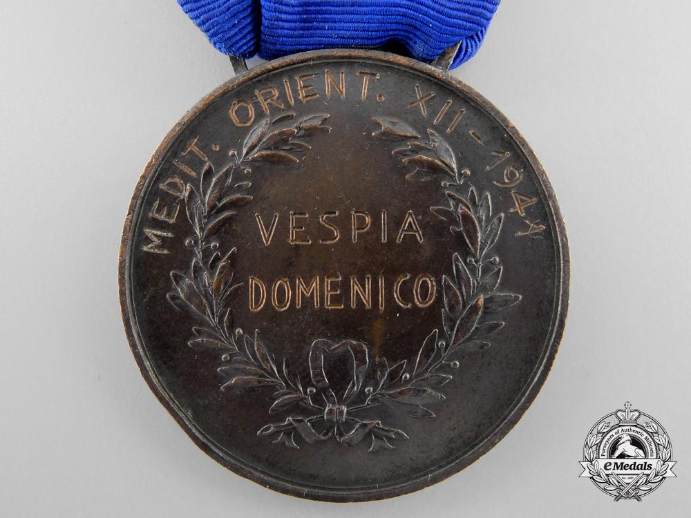 An Italian Al Valore; Bronze Grade 1941