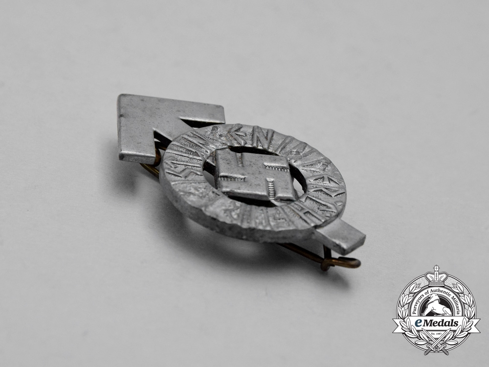 A Third Reich Period HJ Proficiency Badge by Karl Wurster; Numbered