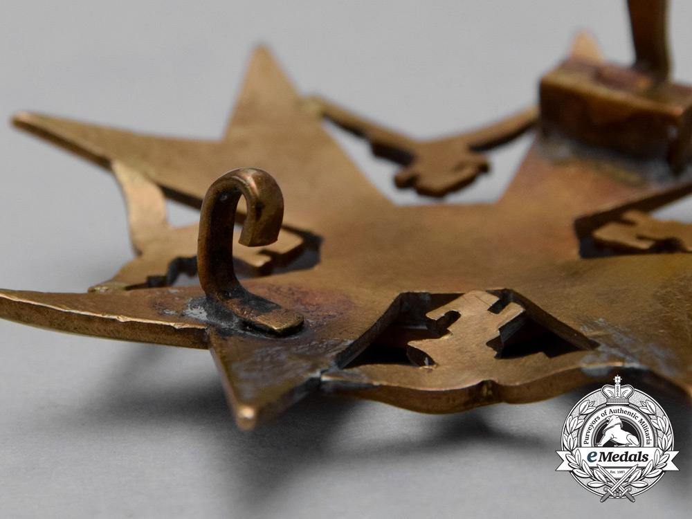 A Third Reich Period German Bronze Grade Spanish Cross