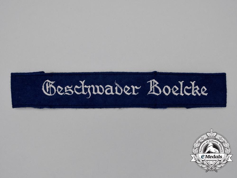 """A Luftwaffe Kampfgeschwader 27 """"Boelcke"""" Cufftitle"""