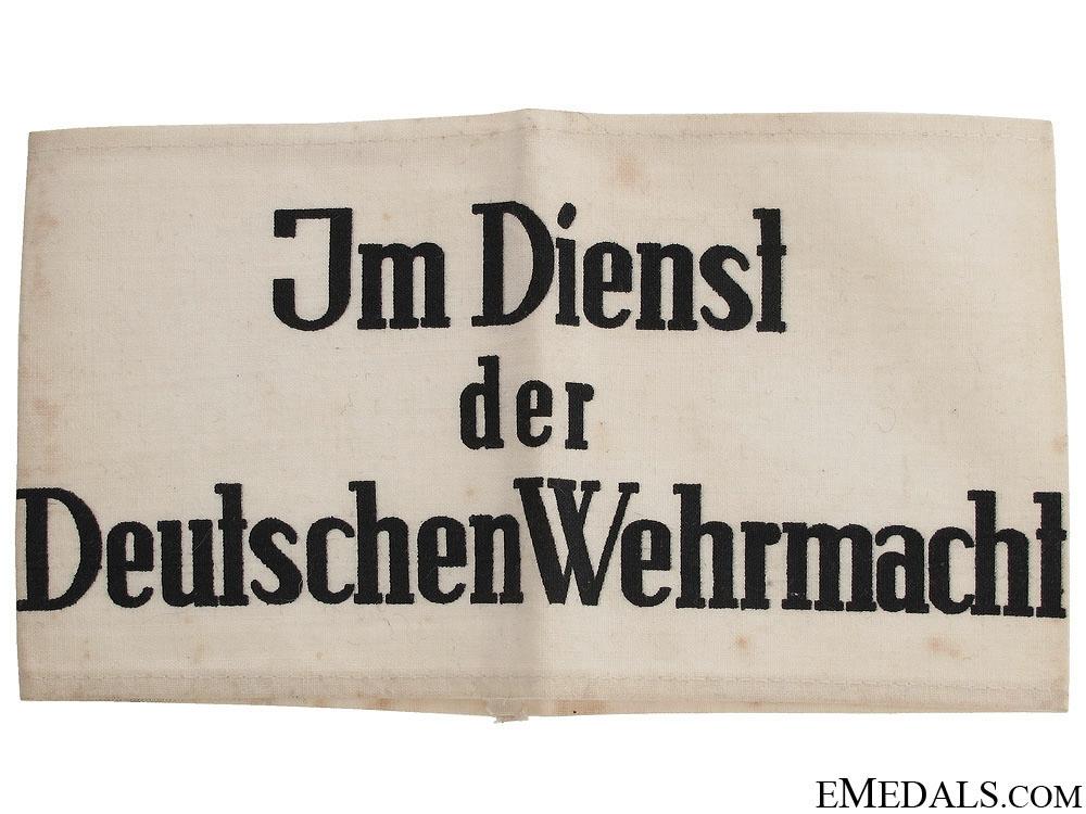 Im Dienst der Deutschen Wehrmacht Armband
