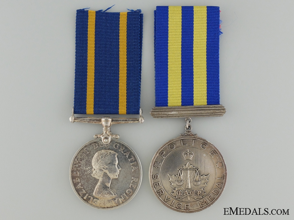 Canada. A Royal Canadian Mounted Police long Service Pair to F.J.W. Sauriol